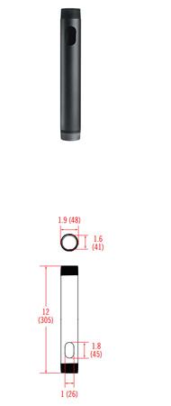 OmniMount NPT12 Threaded Extender Pipe - 12 Inch