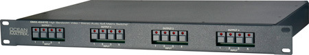 4X4 YC Video/Stereo Audio Router