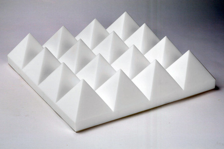 White Sonex Pyramids 24 x 24 x 4 Inch Box of 8