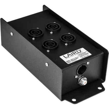 Laird PAC-T1MT1FX5 TRUE1 In & 4 Breakered TRUE1 Female Outlets Power Breakout Box with TRUE1 Female Pass Through
