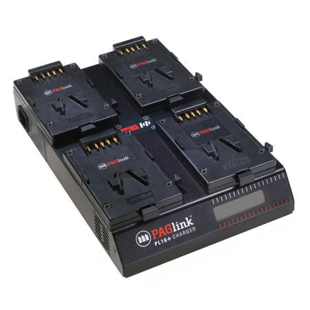 PAG PAGlink PL16plus 4-Position Charger for V-Mount Batteries