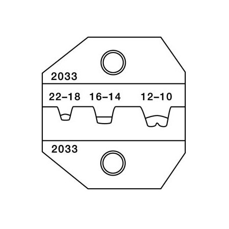 Greenlee PA2033 Die for CrimpALL/8000 & 1300 Series Open Barrel Non-Insulated Term.