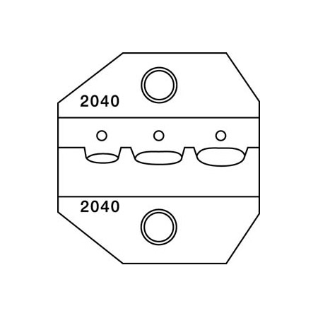 Greenlee PA2040 Die for CrimpALL/8000 & 1300 Series - Insulated Terminals & Lugs