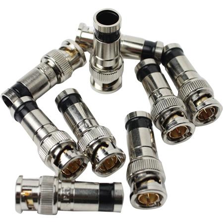 Greenlee 9715 RG6/RG6Q SealTite BNC Compression Connectors 10/pk