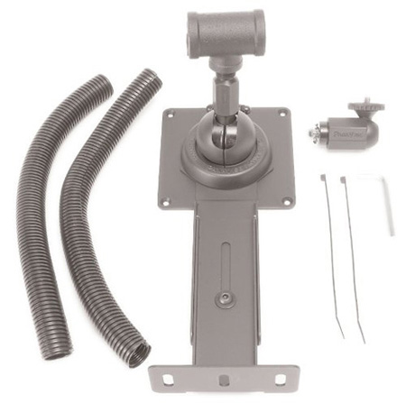 Videoconferencing Flat Screen Pipe Mount With Built In Camera Mount For VESA 100