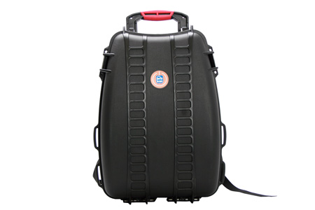 PortaBrace PB-3500DSLR Hardcase Backpack with a custom padded interior