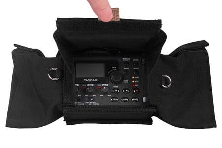 PortaBrace AR-DR60D Audio Recorder Case for Tascam AR-DR60D