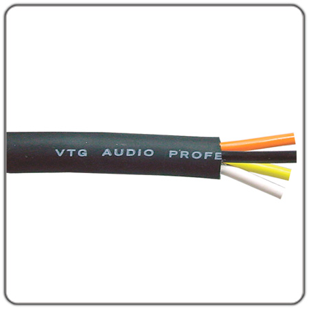 4-Conductor 13AWG Multiconductor Speaker Wire - Per Foot