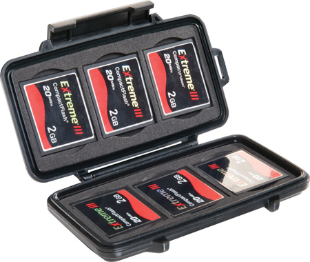 Pelican 0945 Compact Flash Memory Card Case - Black