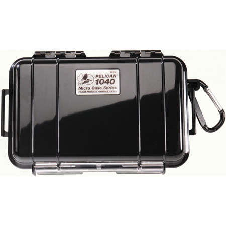 Pelican 1040 Micro Case- Clear w/ Yellow Liner