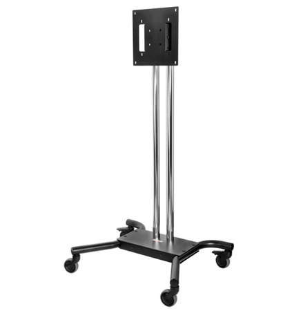 Peerless-AV SC560DPS Floor Cart for 32 to 65 In. Flat Panel Displays - Black/Chrome