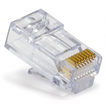 Platinum Tools 100010C EZ-RJ45 CAT6 Connectors for Solid or Stranded Conductors - 50 Pack