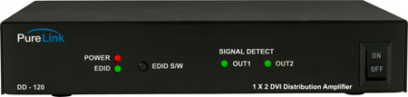 PureLink DD-120 (1) DVI Input to (2) DVI Output Distribution Amplifier