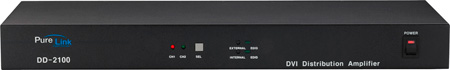 PureLink DD-2100 (2) DVI Inputs to (10) DVI Output Distribution Amplifer