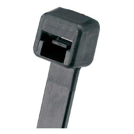 Panduit Pan-Ty Weather Resistant 7.4-Inch 50 Lb. Cable Tie - Black - 100 Pack