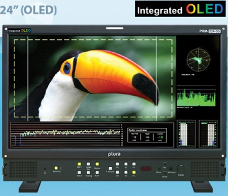 Plura PRM-224-3G-O 24-Inch 3G HD Broadcast Monitor with Integrated OLED 10bit Panel