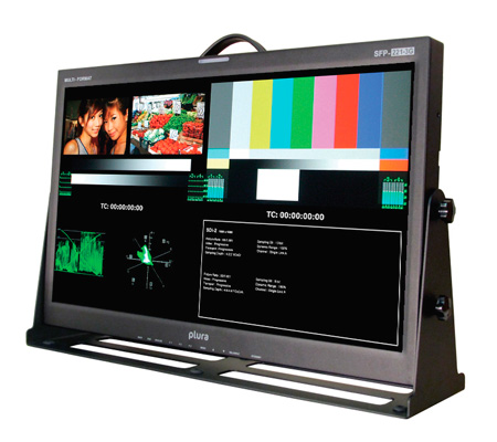 Plura SFP-221-3G 21-Inch Class A 3G 1920x1080 Broadcast Video Monitor w/SFP Port
