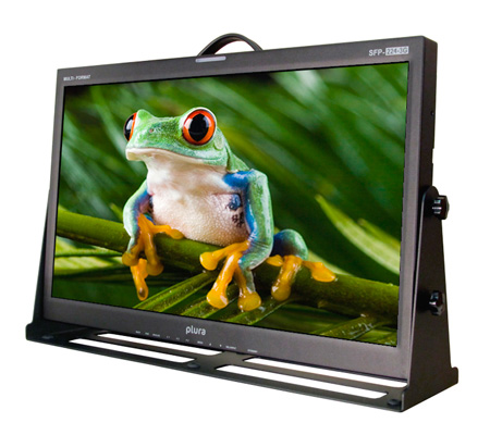 Plura SFP-224-3G 24-Inch Class A 3G 1920x1080 Broadcast Video Monitor w/SFP Port