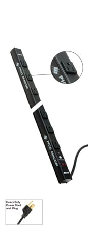 Pico Macom MOR-PSV - Vertical Rack Power Strip - 22 Outlets