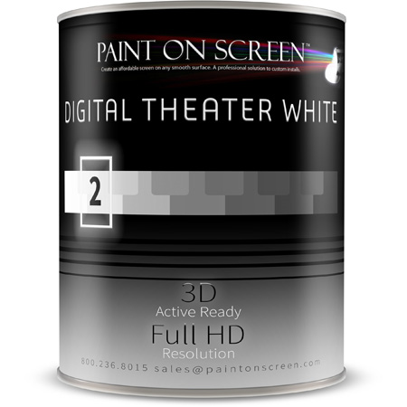 Paint On Screen - Digital Theater White - 1 Gallon