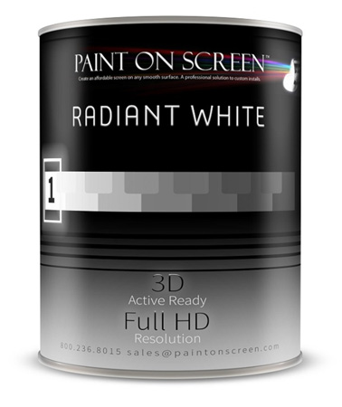 Paint On Screen - Radiant White - 1 Gallon