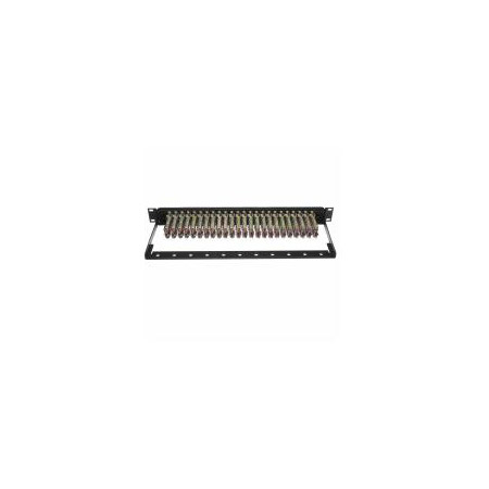 ADC-Commscope PPB1-NS-CG ProPatch LiADC-Commscope 1RU 24x48 Bantam TT Audio Patchbay Normals Strapped