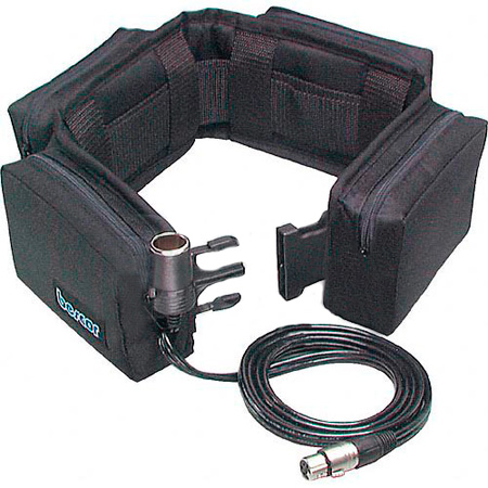 12V Battery Belt with 4 Pin XLR with Automatic Charger