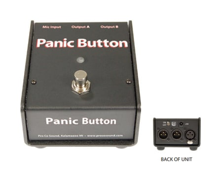 ProCo CDPB Panic Button - Switches Mic Signal from FOH to Backstage