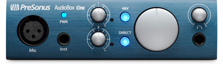 Presonus AudioBox iOne 2x2 USB 2.0 iPad Recording Interface w/ 1 Mic Input
