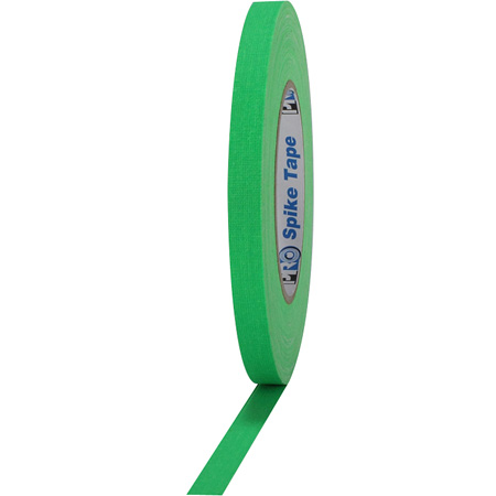 Pro-Tape 001SPIKE45FLGRN Pro Spike 1/2 Inch x 45 Yards - Florescent Green Cloth