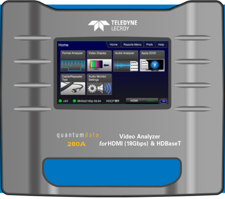 Quantum Data 280A HDMI and HDBaseT Video Analyzer