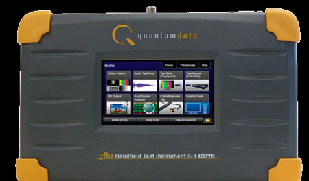 Quantum Data 780A HDMI Handheld Test Instrument