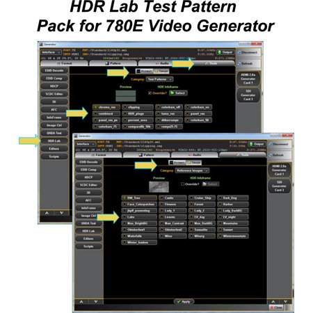 Quantum Data 95-00159 HDR Lab Test Pattern Option Pack for 780E Video Generator