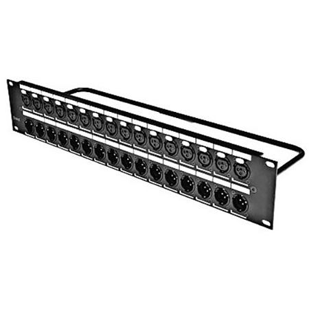 Switchcraft QGPK332MFB 16 XLR Male - 16 Female Patchbay