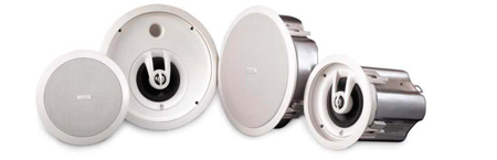 QSC AD-CI52T-WH 2-way Sealed Enclosure Ceiling Speaker - White - Pair