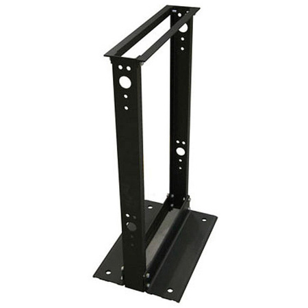 Quest FR1904-28-02 2-Post Open Frame Aluminum Floor Rack - 28U