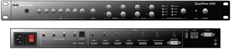 RGB Spectrum QV HDVx-4/0 QuadView HDx 4 Window System 4 Graphic/HD & 16 Video Inputs