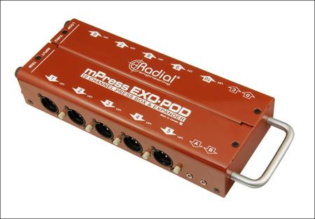 Radial Exo-Pod Broadcast Splitter