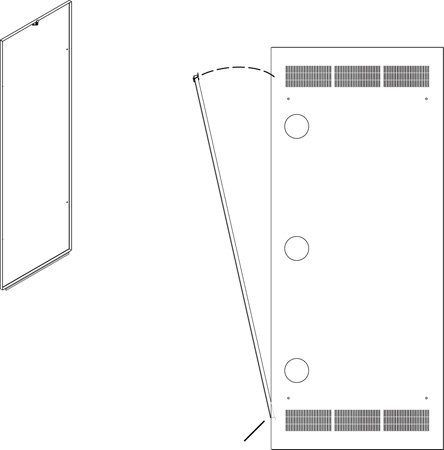 Rear Access Panel for 5-37 Rack
