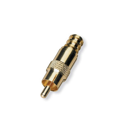 White Sands RCAFP59 RCA Male Fixed Pin Gold RG59 Crimp Connector