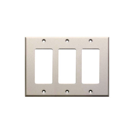 RDL CP-3 Triple Cover Plate - White