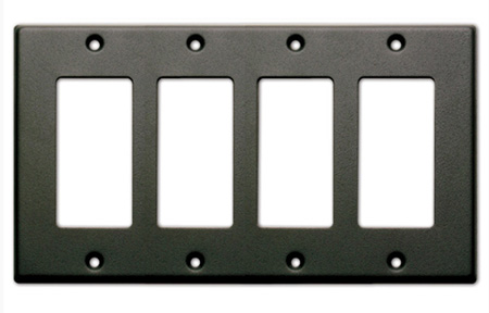 RDL CP-4B Quadruple Cover Plate - black