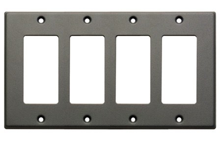 RDL CP-4G Quadruple Cover Plate - gray