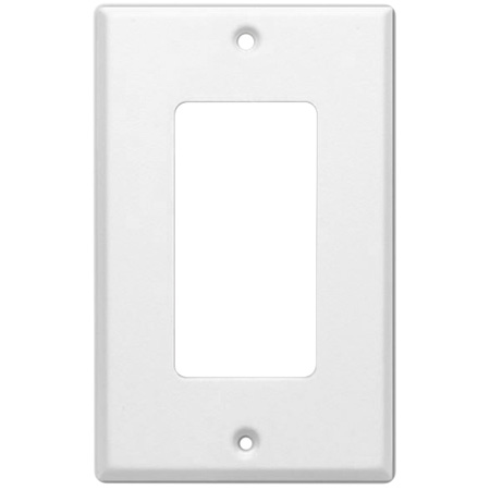 White Decora 1-Gang Outer Plate