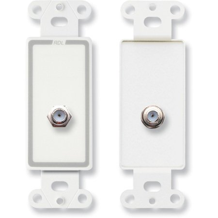 RDL D-F Double Type F Jack on Decora Wall Plate