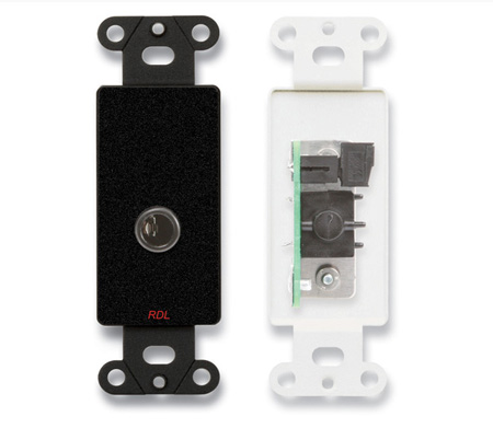 RDL DB-1/4F 1/4 Phone Jack on Decora Wall Plate