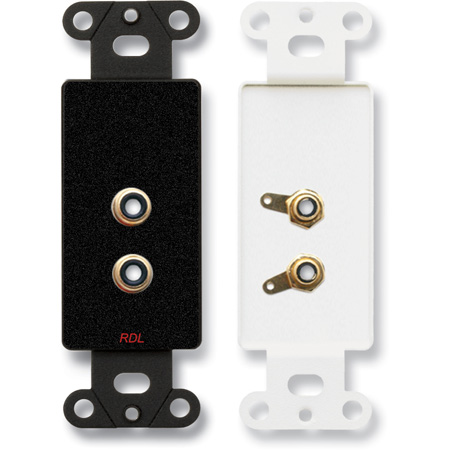 RDL DB-PHN2 Dual RCA Jacks on Decora Wall Plate - Solder type
