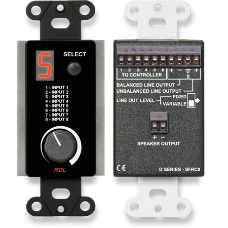 RDL DB-SFRC8 Room Control Station for SourceFlex Distributed Audio System