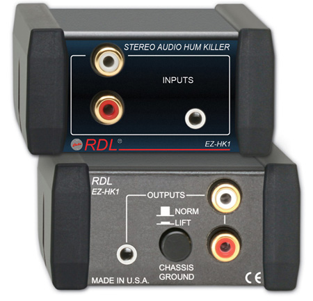 RDL EZ-HK1 Stereo Audio Hum Killer
