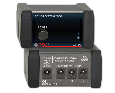 RDL EZ-PD3 Power Supply Distributor